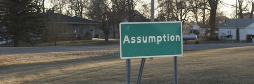 assumption sign